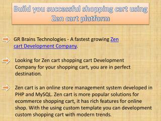 Build you successful shopping cart using Zen cart platform