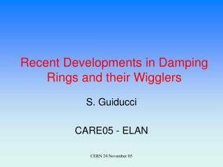Recent Developments in Damping Rings and their Wigglers