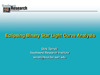 Eclipsing Binary Star Light Curve Analysis