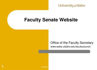 Faculty Senate Website