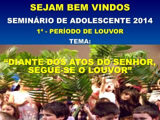 SEMINÁRIO DE ADOLESCENTE 2014