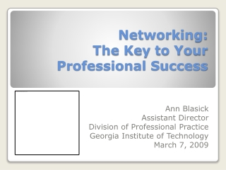 Technology and Professional Networking