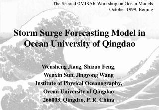 Storm Surge Forecasting Model in Ocean University of Qingdao