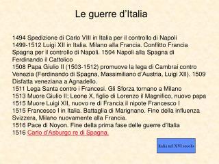 Le guerre d'Italia