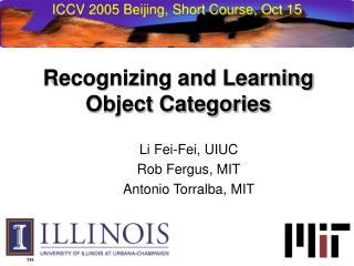 ICCV 2005 Beijing, Short Course, Oct 15