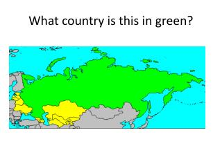 What country is this in green?