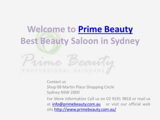 Beauty salon, Facial service inSydney