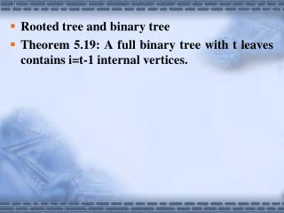 Rooted tree and binary tree