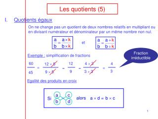 Les quotients (5)