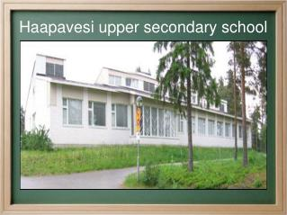 Haapavesi upper secondary school