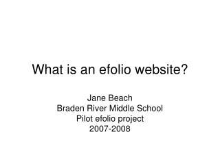 What is an efolio website?