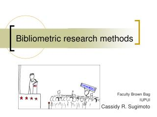 Bibliometric research methods
