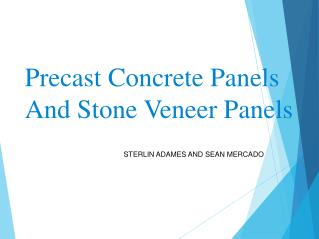 Precast Concrete Panels And Stone Veneer Panels