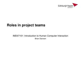 Roles in project teams