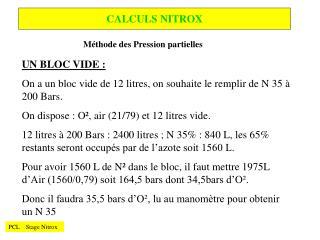 CALCULS NITROX