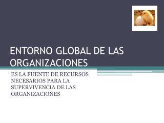 ENTORNO GLOBAL DE LAS ORGANIZACIONES