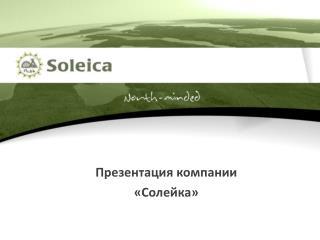 Презентация  компании « Солейка »