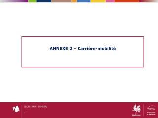 ANNEXE 2 – Carrière- mobilité