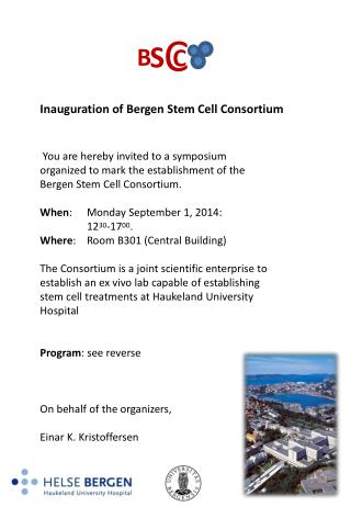Inauguration  of Bergen Stem Cell Consortium
