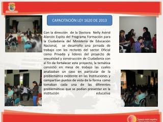 CAPACITACIÓN LEY 1620 DE 2013