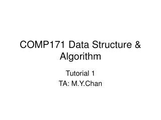 COMP171 Data Structure  Algorithm