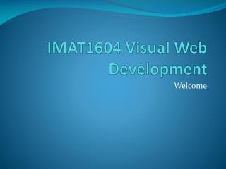 IMAT1604 Visual Web Development