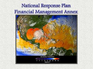 National Response Plan Financial Management Annex