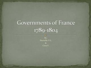 Governments of France 1789-1804