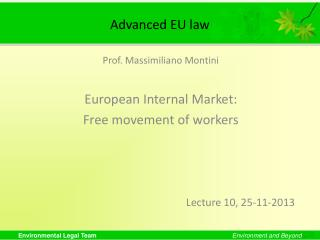Advanced EU law