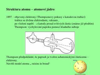 Struktura atomu – atomové jádro :
