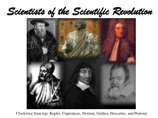 Scientists of the Scientific Revolution