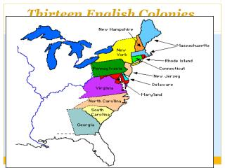 Thirteen English Colonies