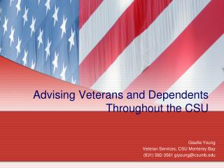 Advising Veterans and Dependents Throughout the CSU