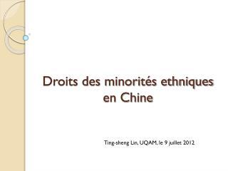 Droits des minorités ethniques en Chine