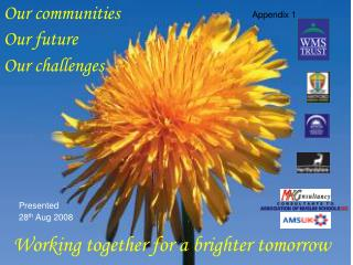 Our communities  Our future  Our challenges