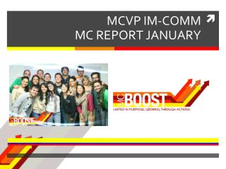 MCVP IM-COMM MC  REPORT JANUARY