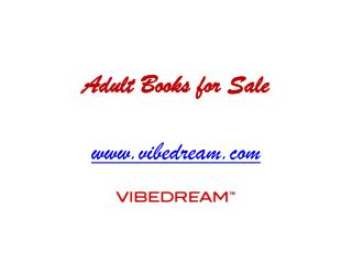 Adult Books for Sale - www.vibedream.com