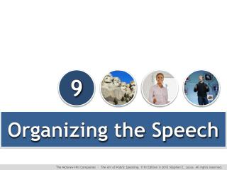 Organizing the Speech