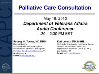 Palliative Care Consultation