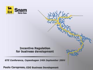 Incentive Regulation  for business development GTE Conference, Copenhagen 24th September 2004