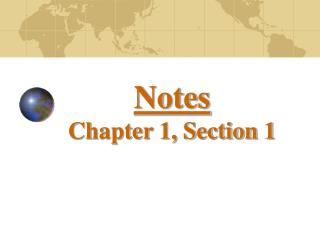 Notes Chapter 1, Section 1