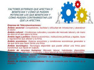 Empresa de Telecomunicaciones: