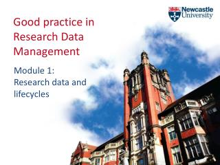 Good practice in Research Data Management