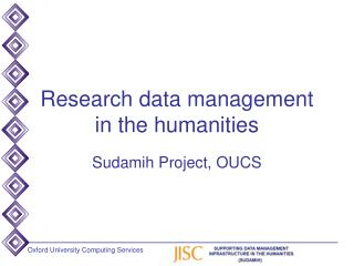 Research data management in the humanities