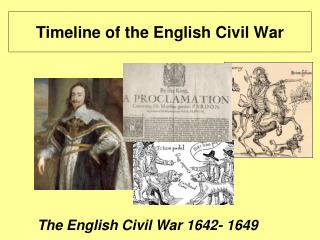 Timeline of the English Civil War