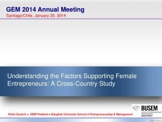 Understanding the Factors Supporting Female Entrepreneurs: A Cross-Country Study