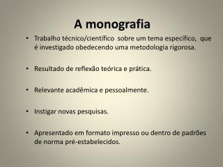 A monografia