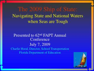 The 2009 Ship of State: Navigating State and National Waters when Seas are Tough