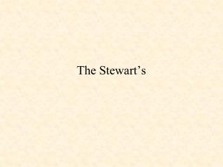 The Stewart's