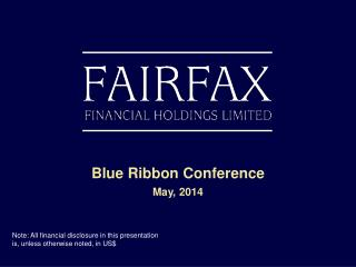 Blue Ribbon Conference May, 2014